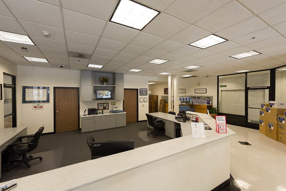 Office at self storage facility in Pasadena, CA.