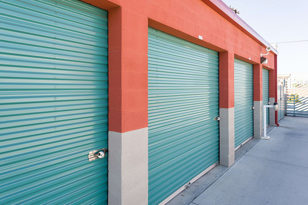 Exterior units at self storage facility in Chino Hills, CA