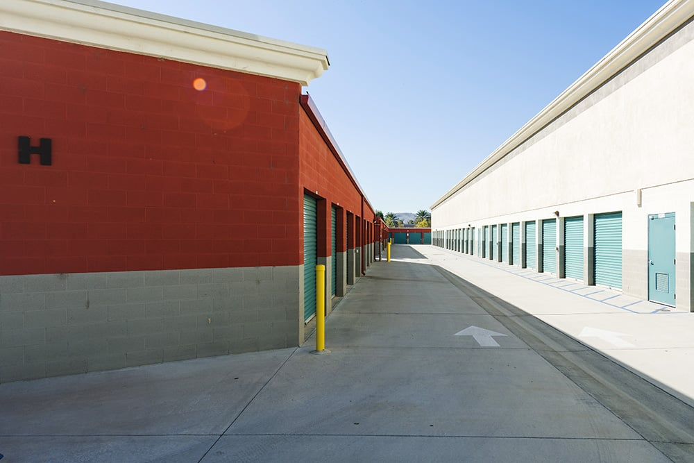 Variety of units at self storage in Chino Hills, CA.