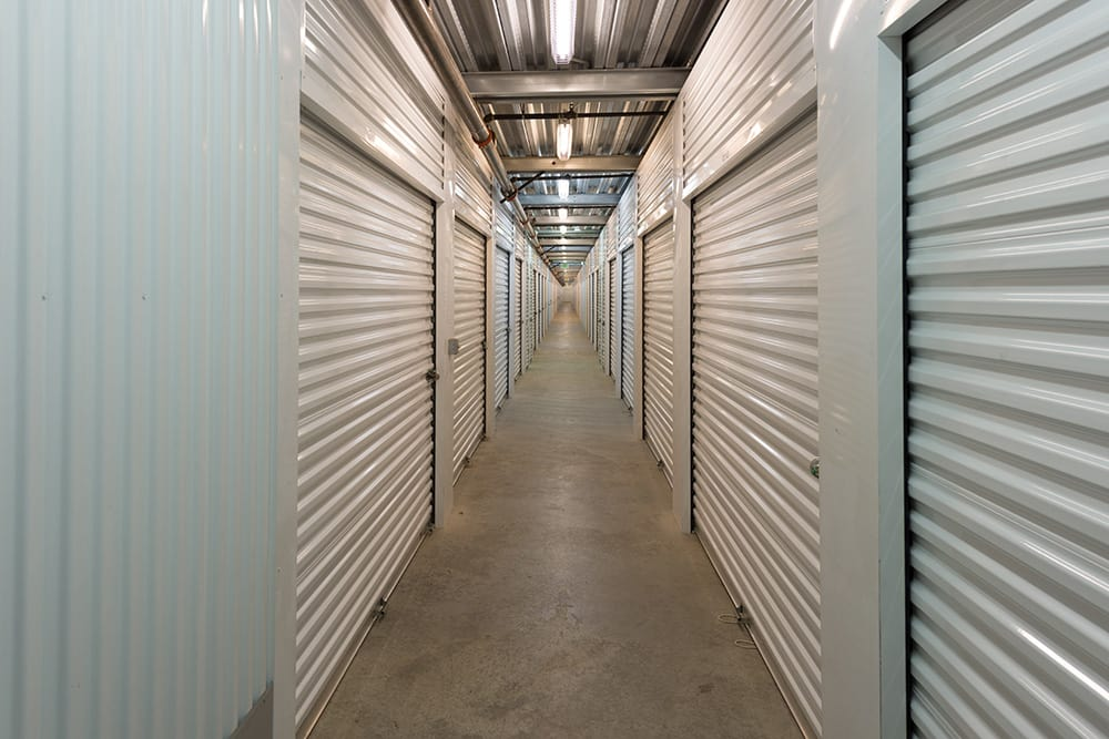 Interior hallway at self storage facility in Chino Hills, CA