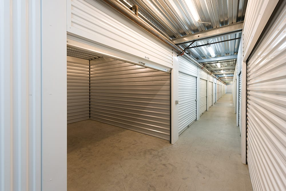 Interior unit opened at self storage facility in Chino Hills, CA