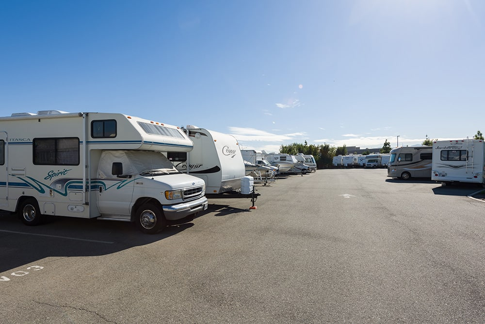Rv storage at Chino Hills Self Storage in Chino Hills, CA.