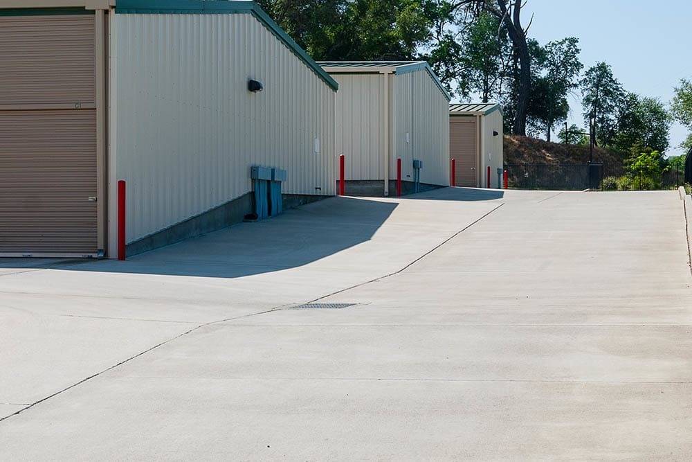 Drive way at self storage facility in El Dorado Hills, CA