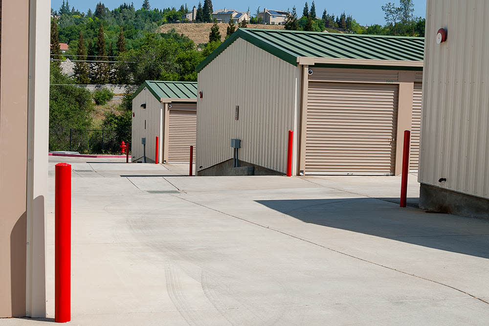 Ground level units at self storage facility in El Dorado Hills, CA