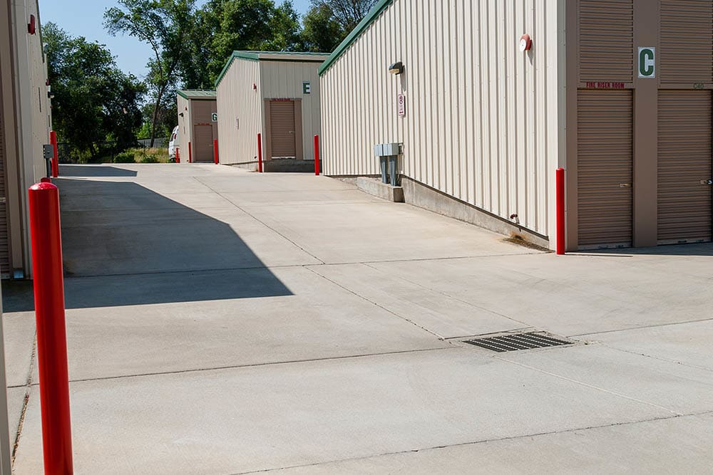 Storage units at facility in El Dorado Hills, CA