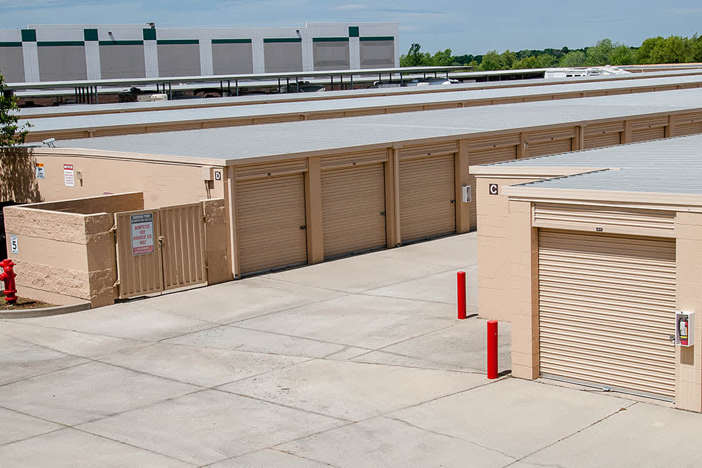 Ground level unites at storage facility in Elk Grove, CA.