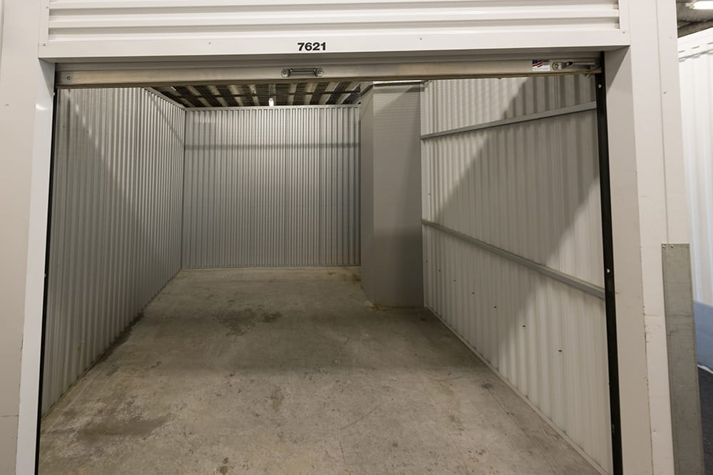 Inside unit at storage facility in Los Angeles, CA