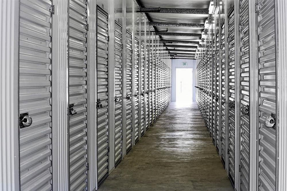 Interior units at storage facility in Scotts Valley, CA.