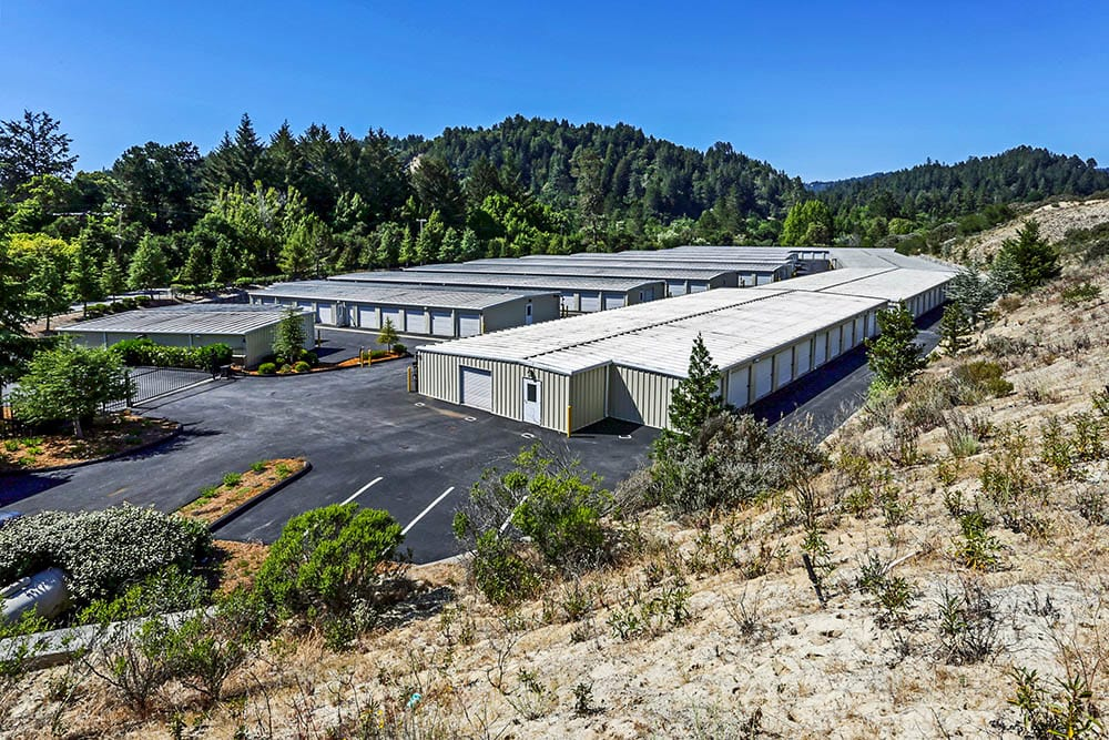 Variety of units at storage facility in Scotts Valley, CA.