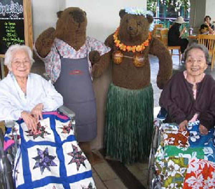 Women quilting at The Care Center of Honolulu in Honolulu