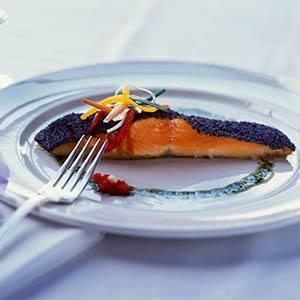 Salmon dish at The Gardens at Park Balboa