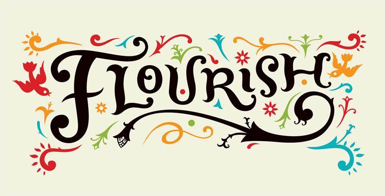 Flourish Graphic for The Gardens at Park Balboa