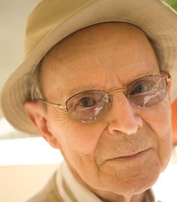 Man in a hat at The Terraces at Park Marino in Pasadena