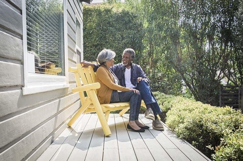 Happy couple at The Terraces at Park Marino in Pasadena