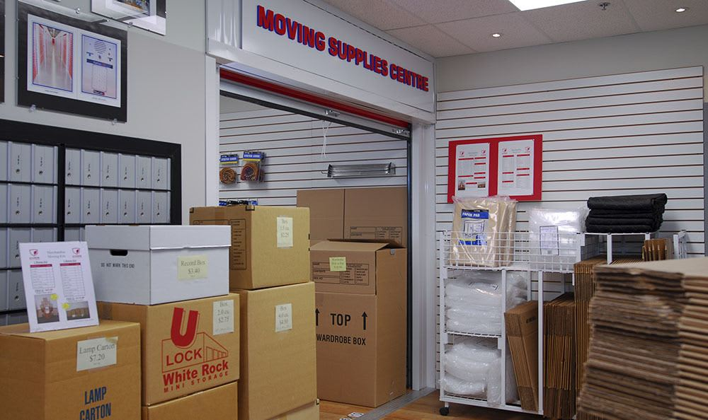 Packing and moving supplies at Surrey self storage