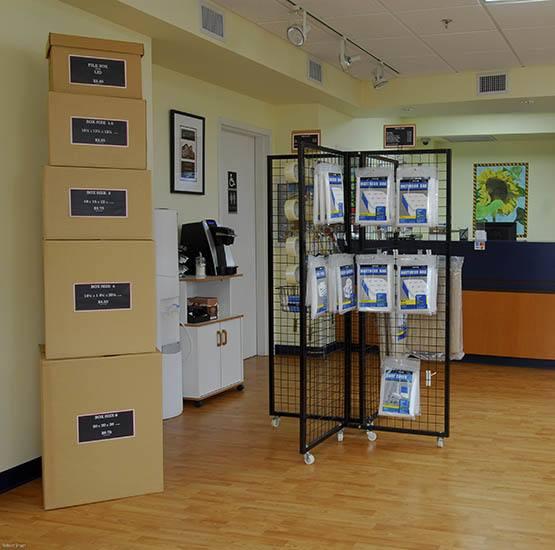 Storage supplies at Victoria self storage