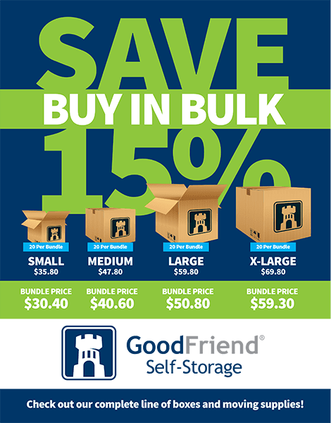 Bundle and Save with GoodFriend Self Storage North Fork in Cutchogue, New York