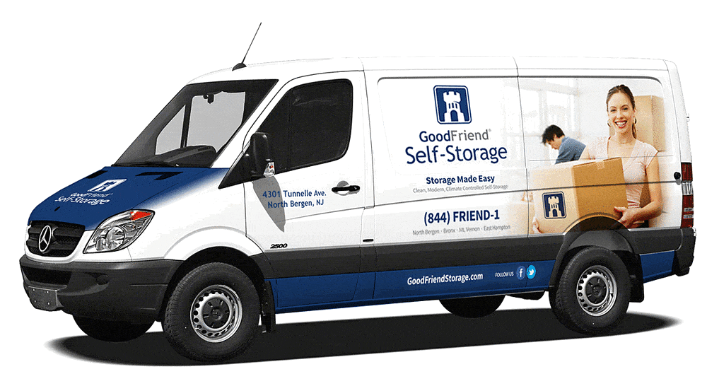 moving van offered at GoodFriend Self Storage