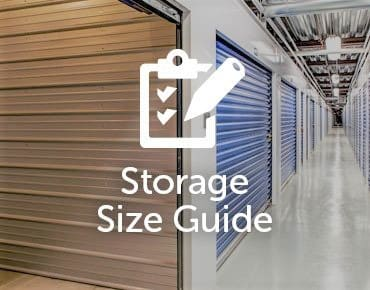 storage size guide for GoodFriend Self Storage