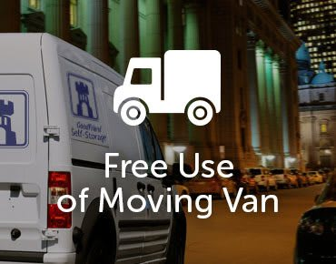 At GoodFriend Self Storage North Bergen we provide a free moving van when you move in