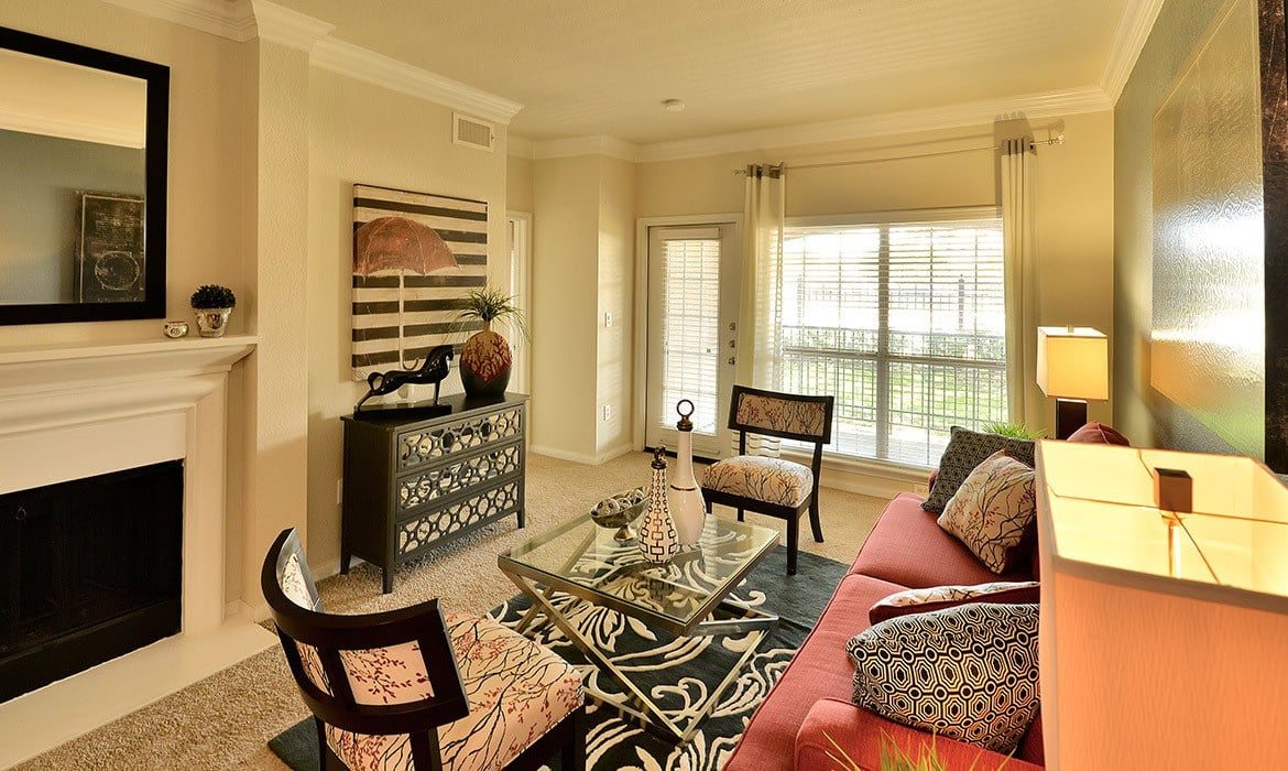You'll love the spacious living areas in your new luxury apartment at Bentley Place at Willow Bend.