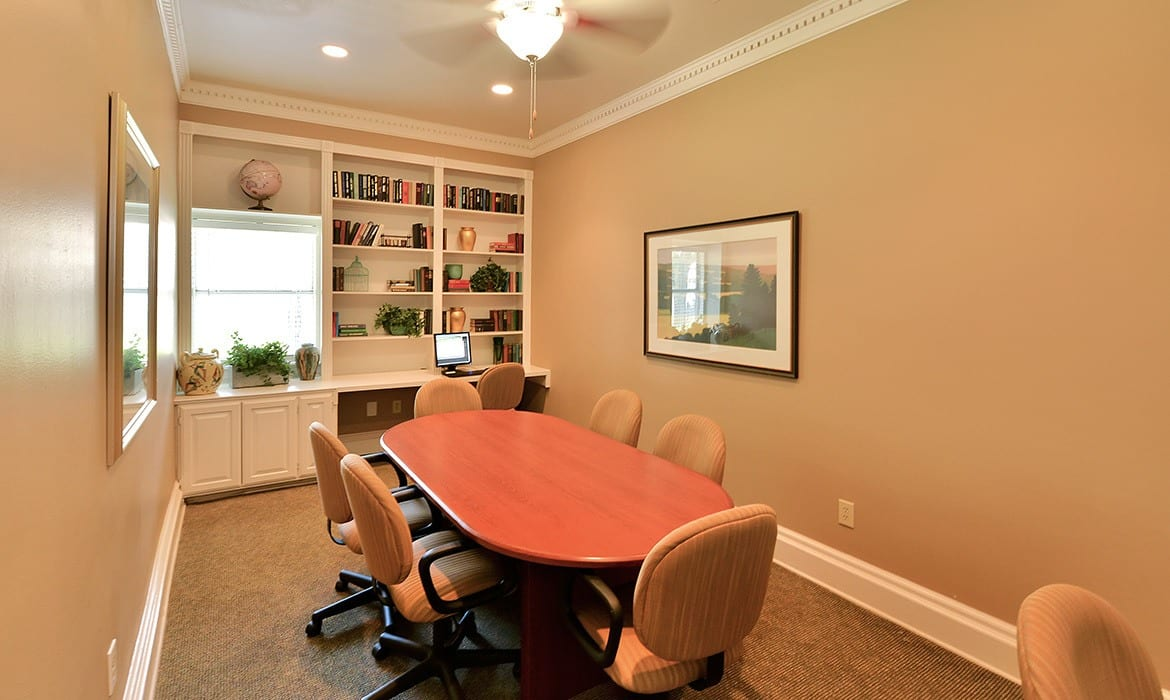 For those times when you need to work from home, the business center at Bentley Place at Willow Bend has everything you need to get the job done.