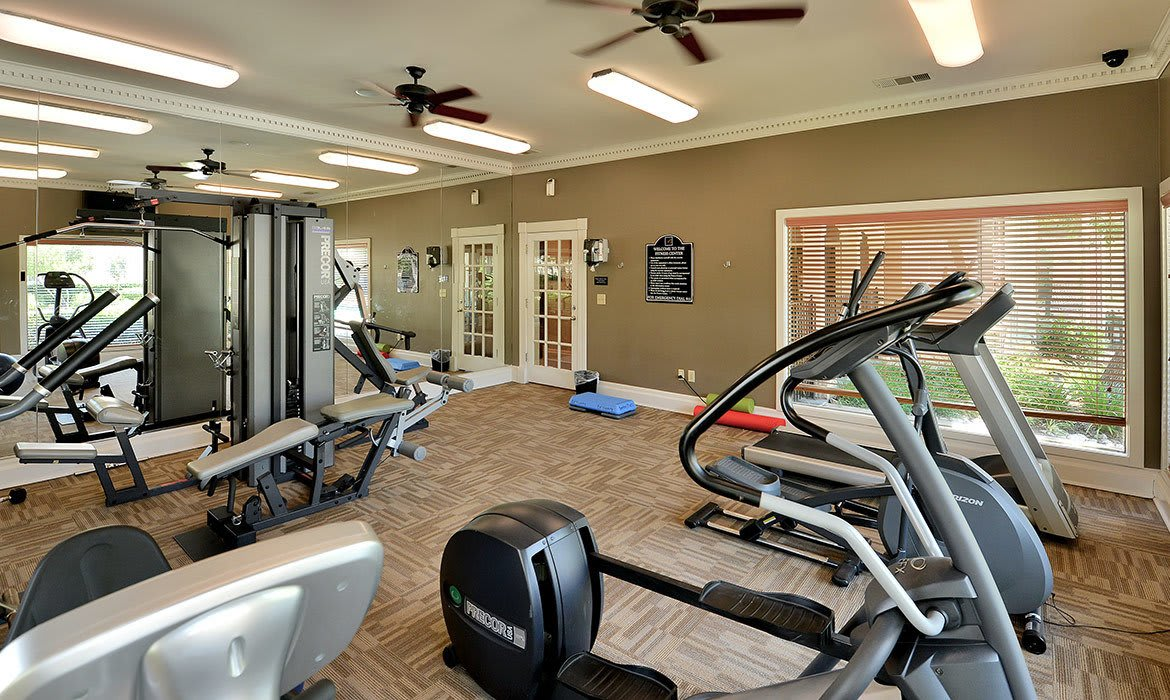When it comes to working off the stress of the day, our fitness center at Bentley Place at Willow Bend has plenty of options to keep you happy and fit.
