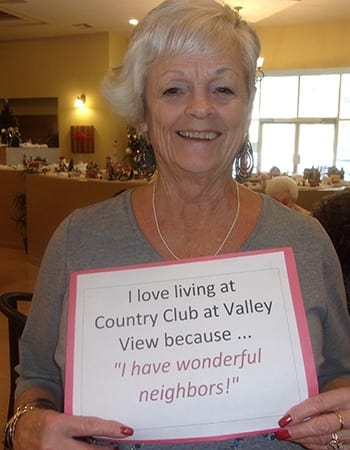 Don't settle; love where you live! Live at Country Club at Valley View.