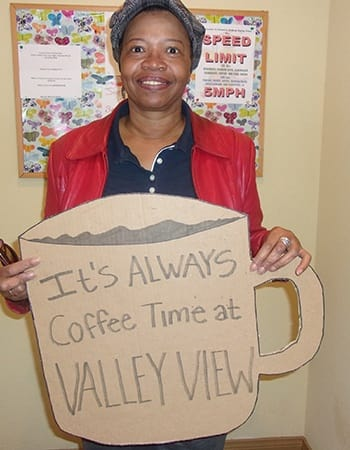 This resident just renewed her lease at Country Club at Valley View in Las Vegas.