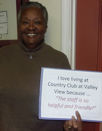Families are very welcome at Country Club at Valley View; here's one showing their love!