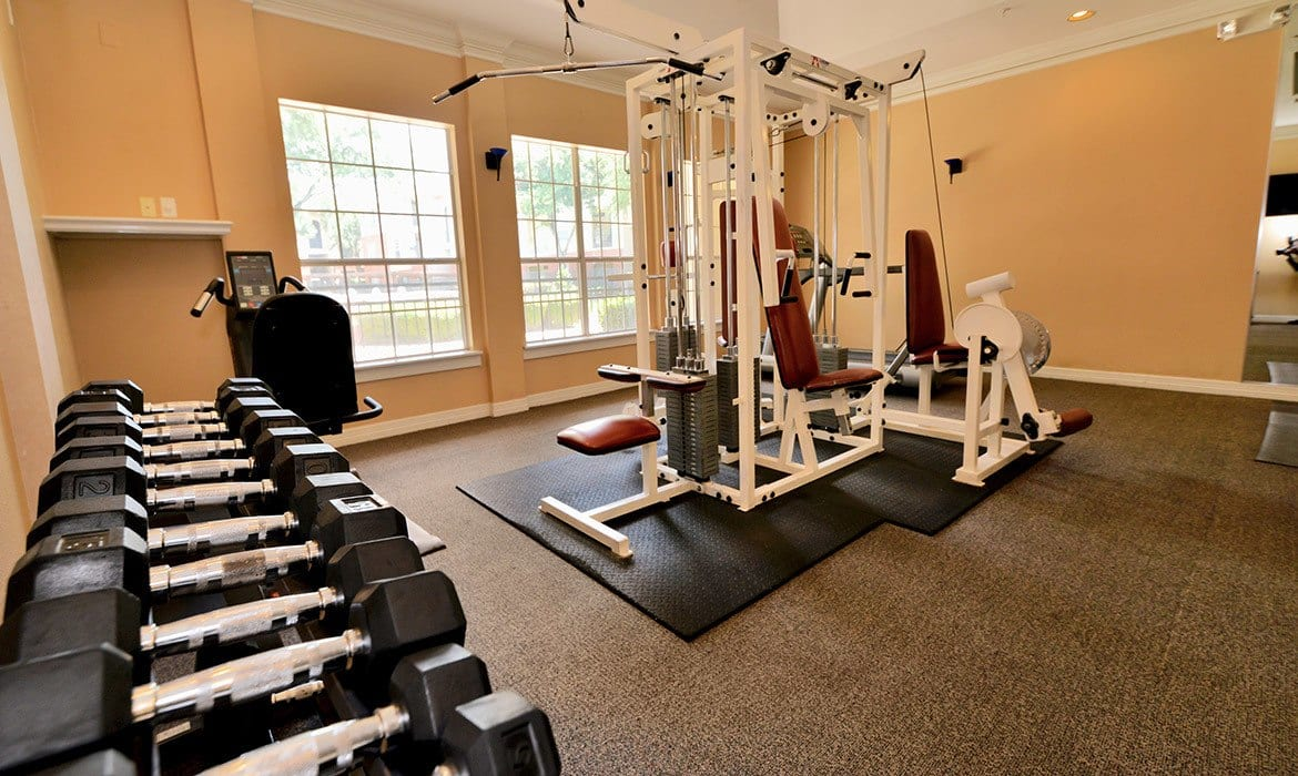 When it comes to working off the stress of the day, our fitness center at Montfort Place has plenty of options to keep you happy and fit.