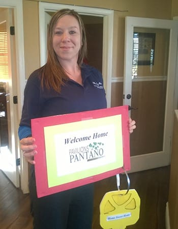This resident just renewed her lease at Pavilions at Pantano Apartment Homes in Tucson.