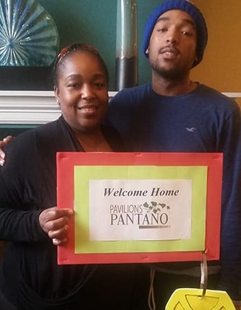 Families are very welcome at Pavilions at Pantano Apartment Homes; here's one showing their love!