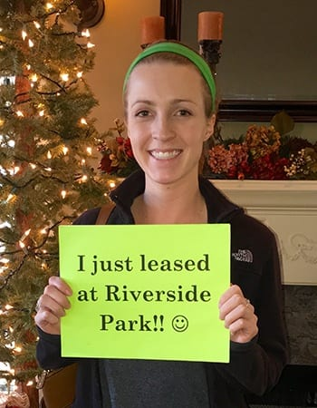 This resident just renewed her lease at Riverside Park Apartments in Tulsa.