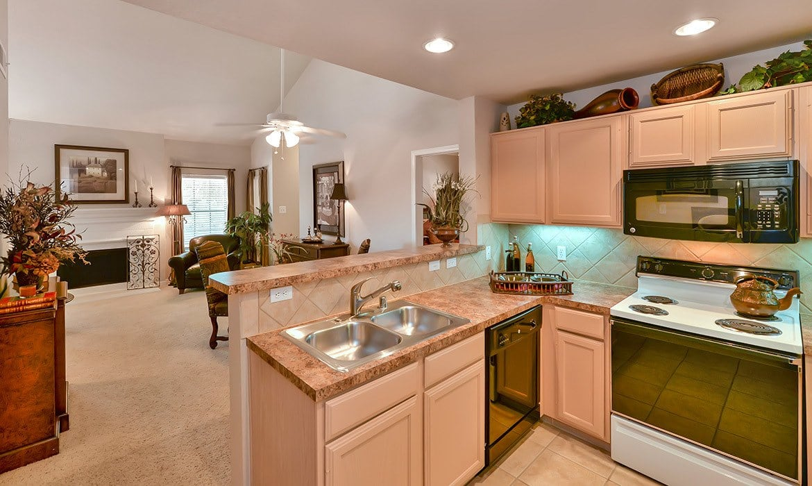 When it comes to entertaining large groups at Saddle Brook Apartments, reserve our clubhouse and you'll have plenty of room and all the conveniences you require.