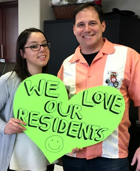 Another happy resident just renewed her lease here at The Croix Townhome Apartments in Henderson.