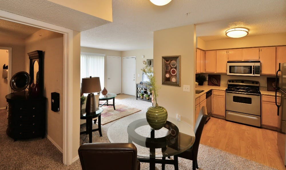 You'll love the spacious living areas in your new luxury apartment at Trinity Square Apartment Homes.