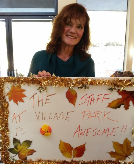 Families are very welcome at Village Park Apartments; here's one showing their love!