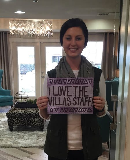 Another happy resident just renewed her lease here at The Villas at Katy Trail in Uptown in Dallas.
