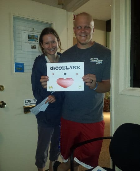 Families are very welcome at Woodlake Apartments; here's one showing their love!