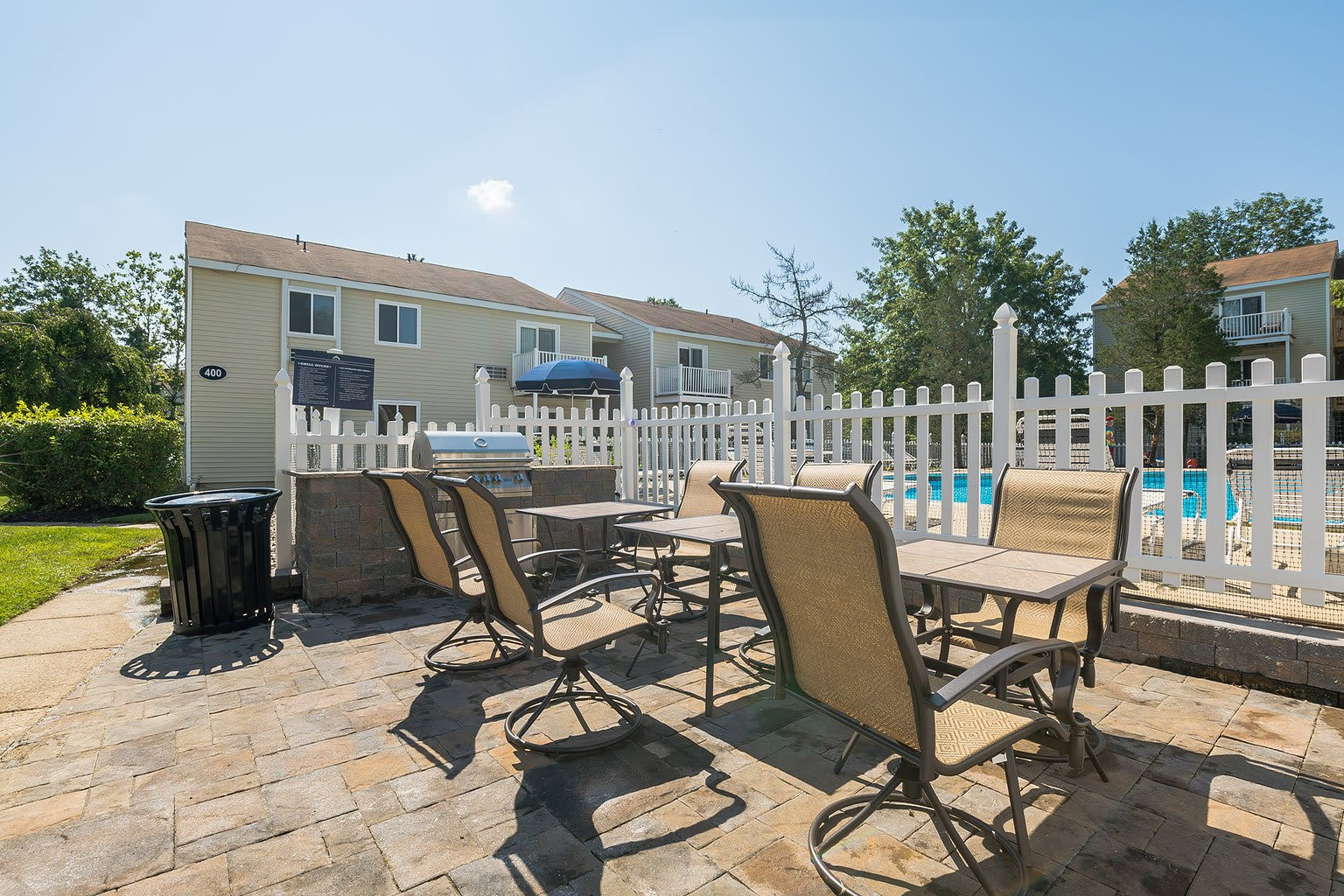 Grill and Patio At Our Apartments In Voorhees