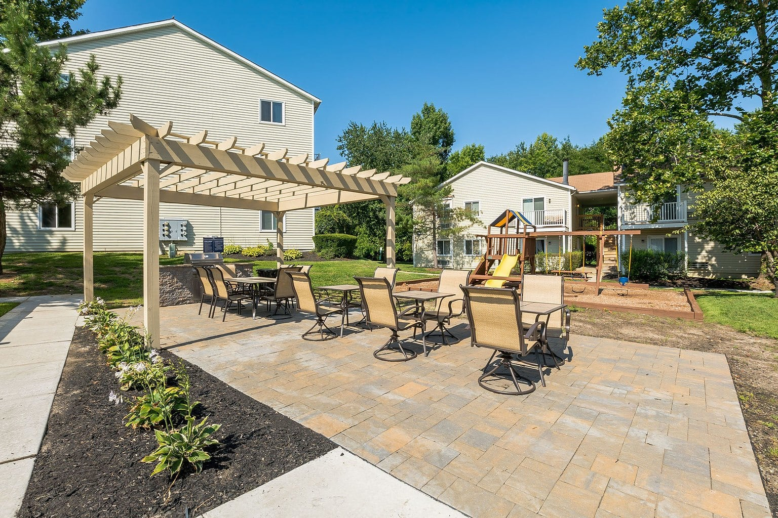 Playground and Patio At The Village at Voorhees in Voorhees, NJ