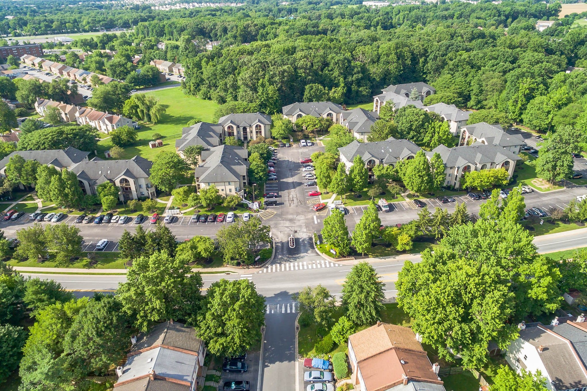 Aerial View of Our New Castle Apartments
