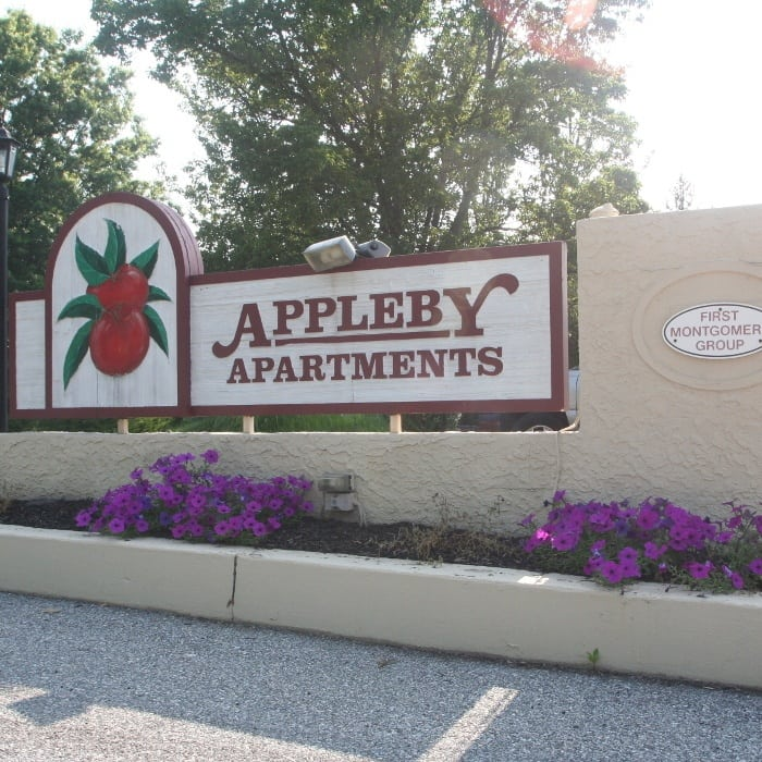 Sign at Appleby Apartments