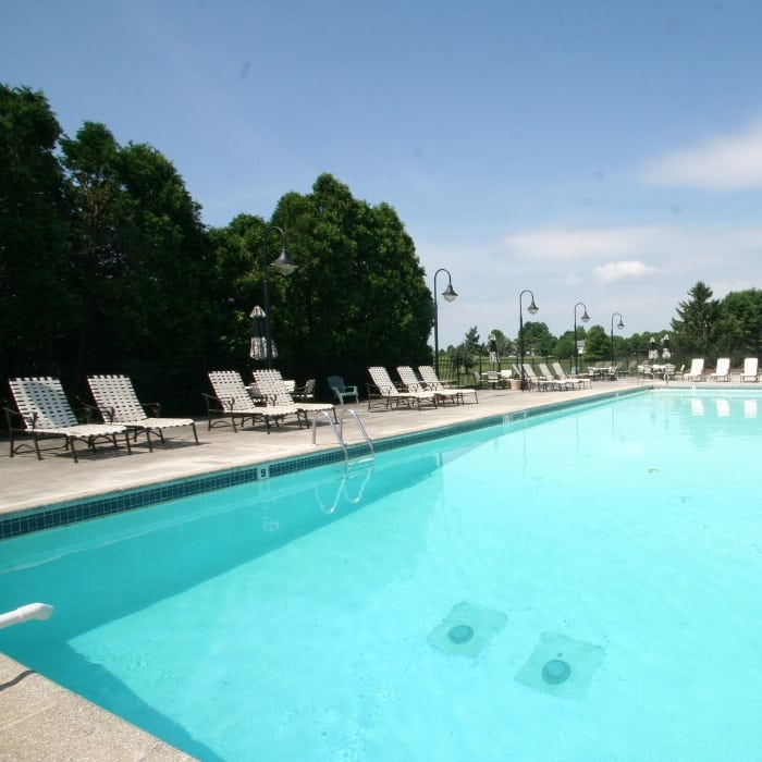 Pool at The Fairways Apartments and Townhomes in Thorndale, PA