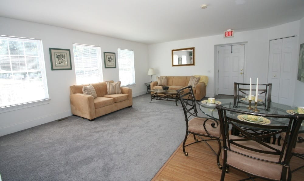 Living Room At Apartments For Rent In Thorndale