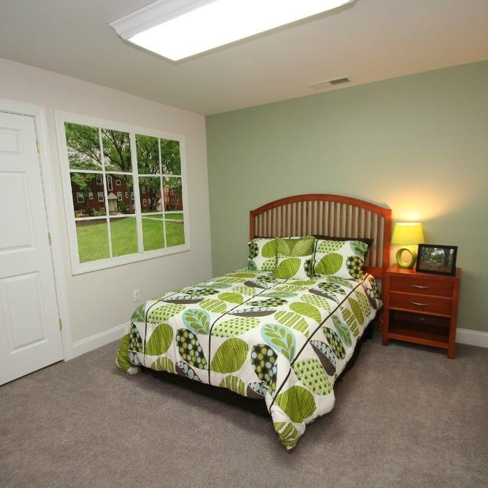 Bedroom at Melrose Station Apartments in Elkins Park, PA