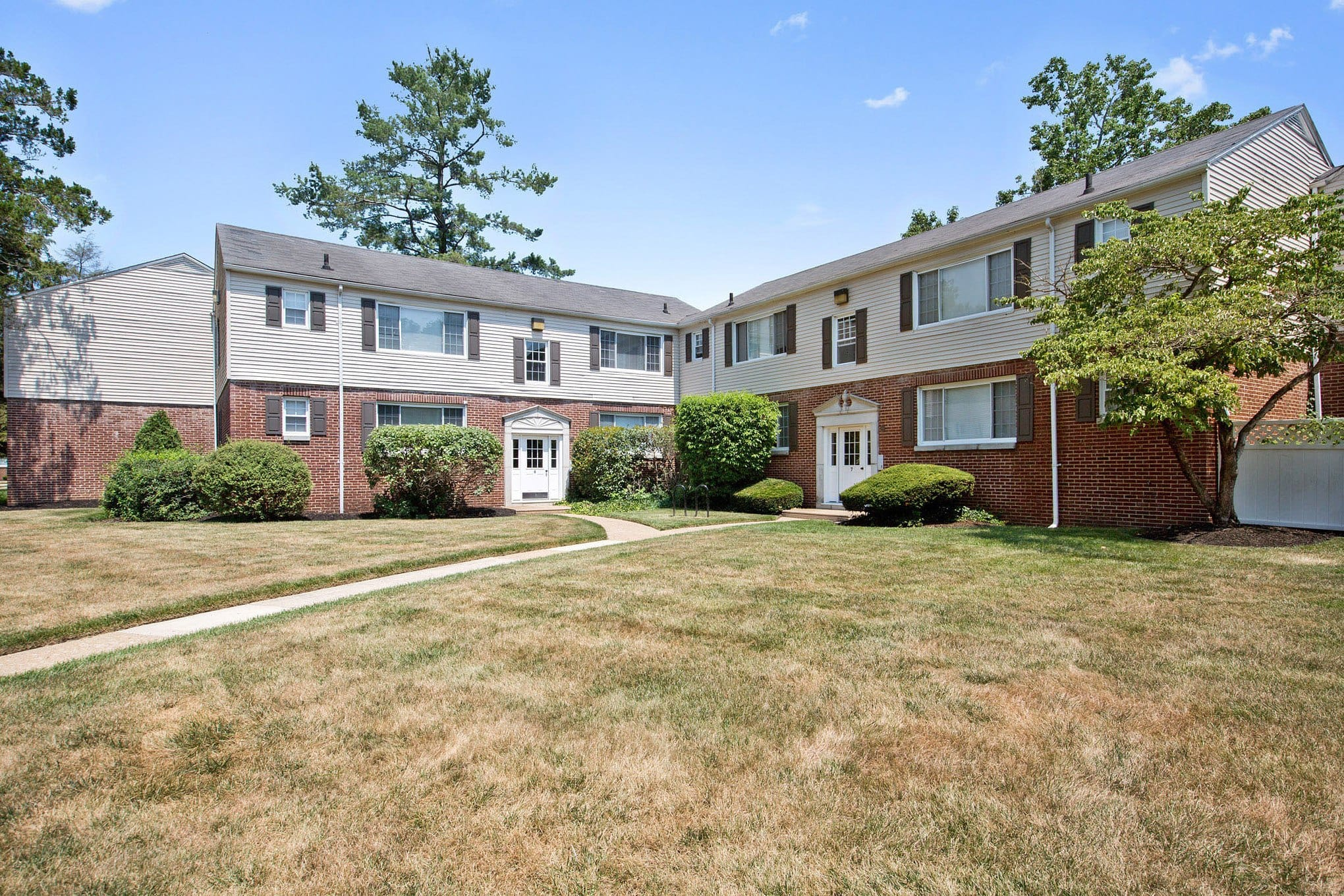Exterior to Village Square Apartments in Mount Holly, NJ