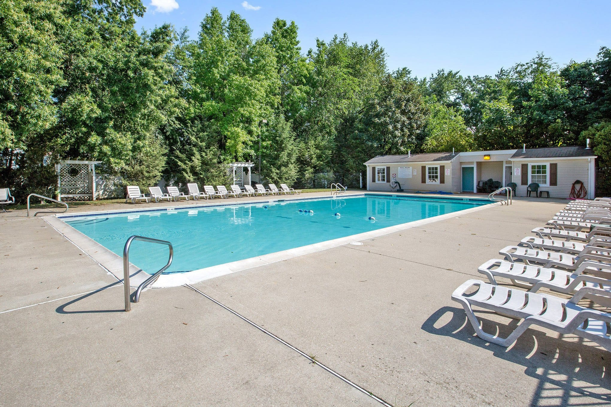 Pool at Village Square Apartments in Mount Holly, NJ