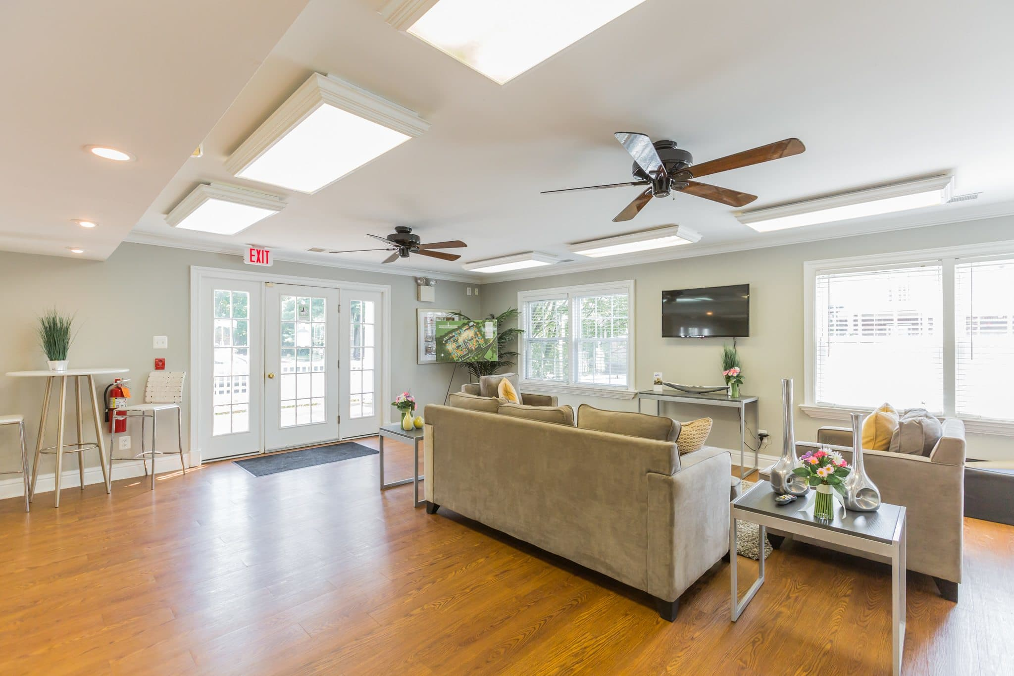 Spacious Living Space at Village Square Apartments in Mount Holly, NJ